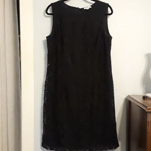 New York & Company Black Lace Dress
